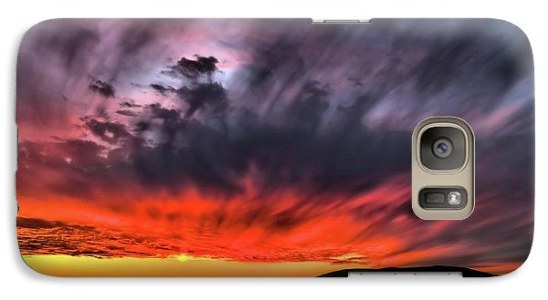 Galaxy Case featuring the photograph Clouds In Motion Before The Storm by Vivian Krug Cotton