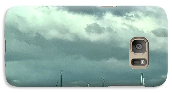 Galaxy Case featuring the photograph Clouds On The Bay by Kim Nelson