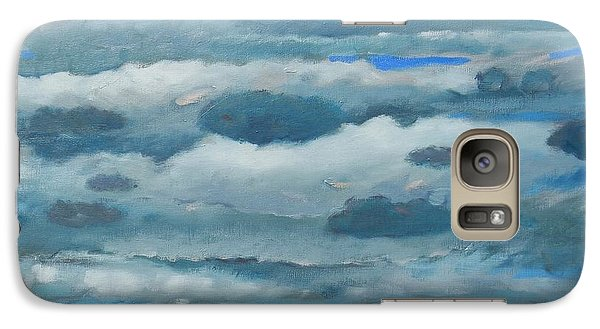 Galaxy Case featuring the painting Clouds Over South Bay by Gary Coleman