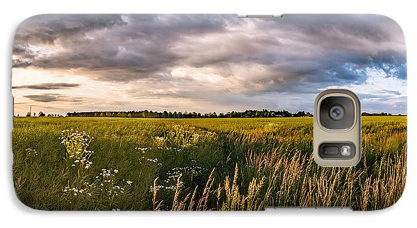 Galaxy Case featuring the photograph Clouds Over The Fields by Dmytro Korol