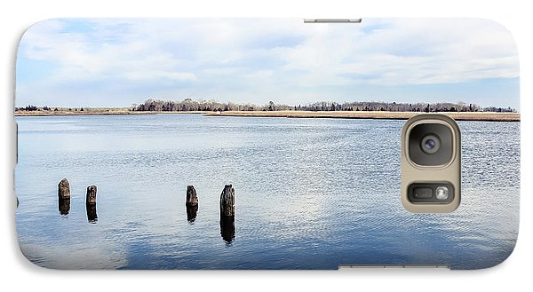 Galaxy Case featuring the photograph Clouds Over The Mullica River by Colleen Kammerer