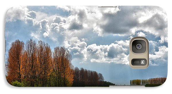 Galaxy Case featuring the photograph Clouds Over Voorne by Frans Blok