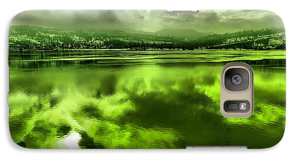 Galaxy Case featuring the photograph Clouds Reflecting Off The Columbia  by Jeff Swan