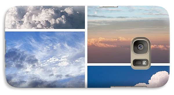 Galaxy Case featuring the photograph Cloudscapes Collage by Jenny Rainbow