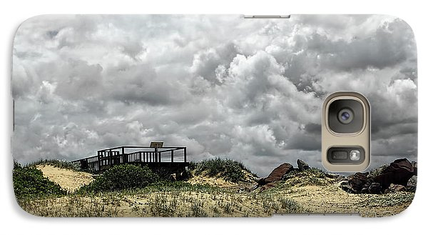Galaxy Case featuring the photograph Cloudy Beach By Kaye Menner by Kaye Menner