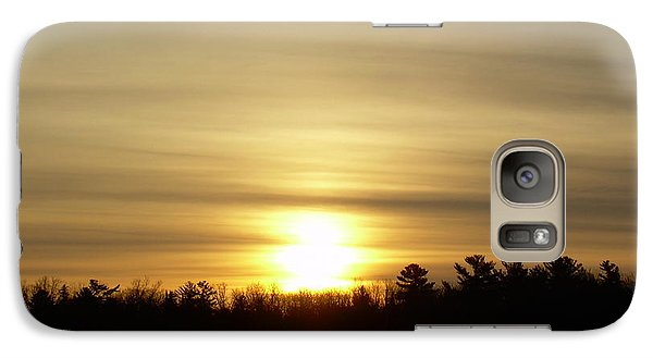 Galaxy Case featuring the photograph Cloudy Golden Sky At Dawn by Kent Lorentzen