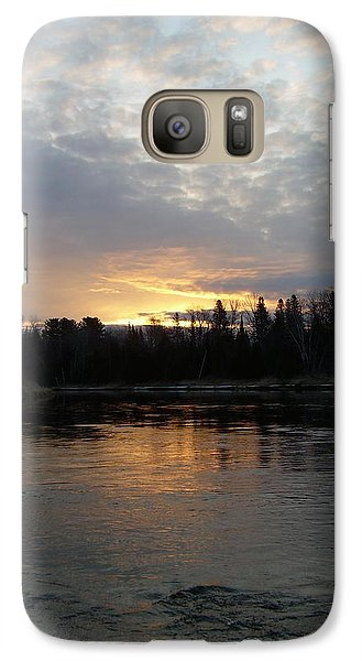 Galaxy Case featuring the photograph Cloudy Mississippi River Sunrise by Kent Lorentzen