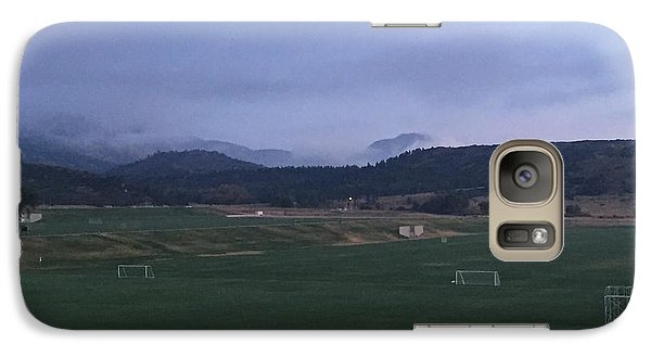 Galaxy Case featuring the photograph Cloudy Morning At The Field by Christin Brodie