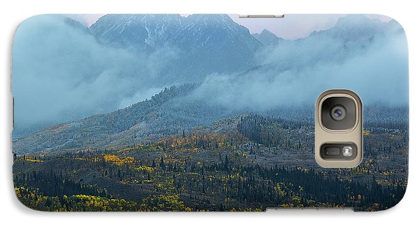 Galaxy Case featuring the photograph Cloudy Peaks by Aaron Spong