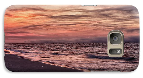 Galaxy Case featuring the photograph Cloudy Sunrise At The Beach by John McGraw