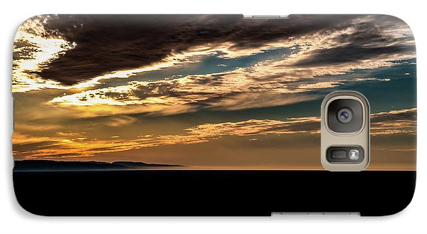 Galaxy Case featuring the photograph Cloudy Sunset by Onyonet  Photo Studios