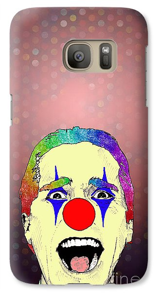 Galaxy Case featuring the drawing clown Christian Bale by Jason Tricktop Matthews