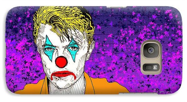 Galaxy Case featuring the drawing Clown David Bowie by Jason Tricktop Matthews