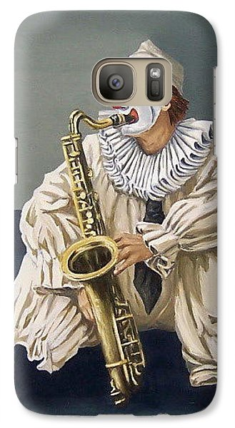 Galaxy Case featuring the painting Clown by Natalia Tejera