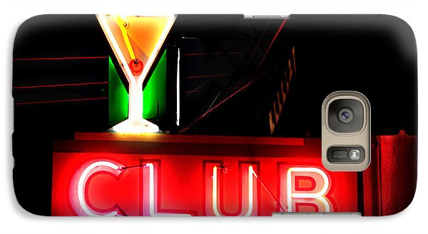 Galaxy Case featuring the photograph Club Neon Sign 24x20 by Melany Sarafis