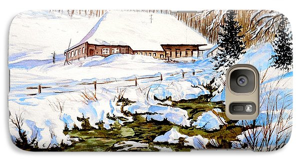 Galaxy Case featuring the painting Clubhouse In Winter by Sher Nasser
