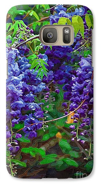 Galaxy Case featuring the photograph Clusters Of Wisteria by Donna Bentley