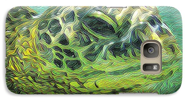 Galaxy Case featuring the painting Clyde The Turtle by Erika Swartzkopf
