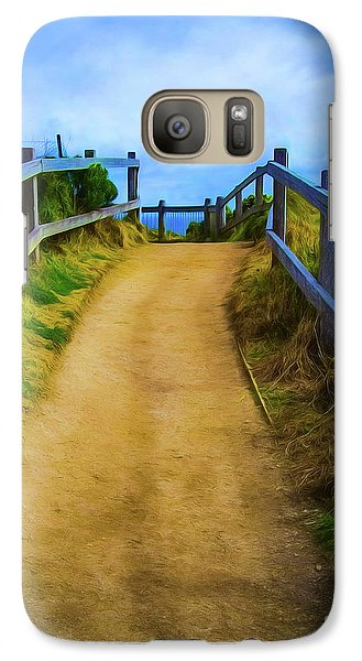 Galaxy Case featuring the photograph Coast Path by Perry Webster