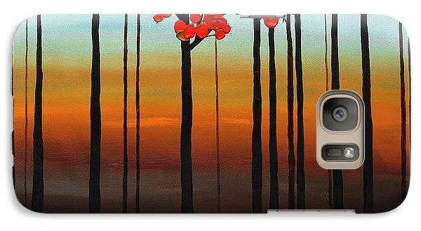 Galaxy Case featuring the painting Coastal Radiance by Carmen Guedez