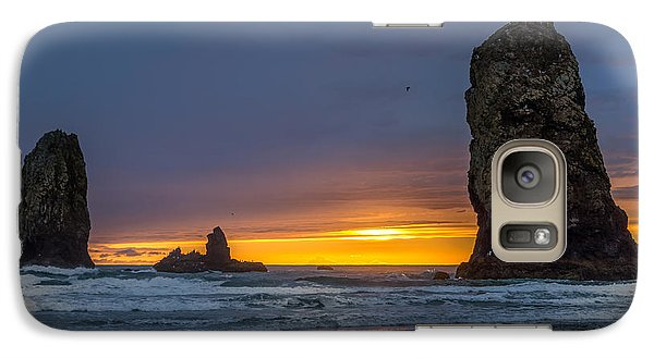 Galaxy Case featuring the photograph Coastal Sunset by Jerry Cahill