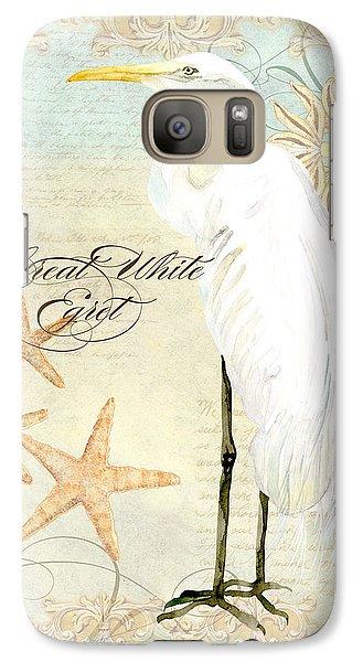 Coastal Waterways - Great White Egret 3 Galaxy S7 Case