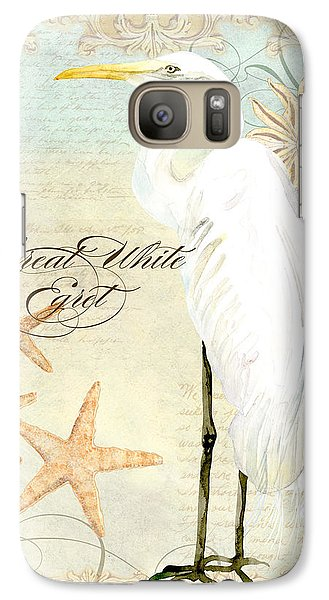 Coastal Waterways - Great White Egret 3 Galaxy S7 Case by Audrey Jeanne Roberts