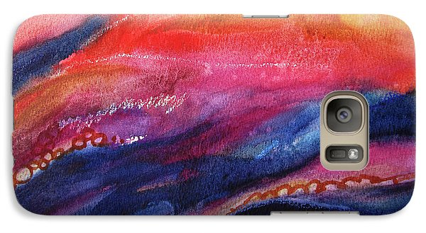 Galaxy Case featuring the painting Coatings And Deposits Of Color by Kathy Braud