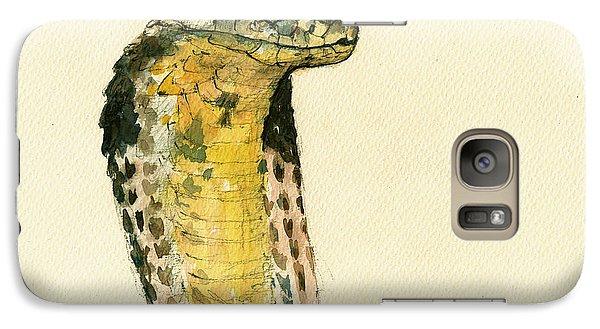 Cobra Galaxy S7 Case - Cobra Snake Poster by Juan  Bosco