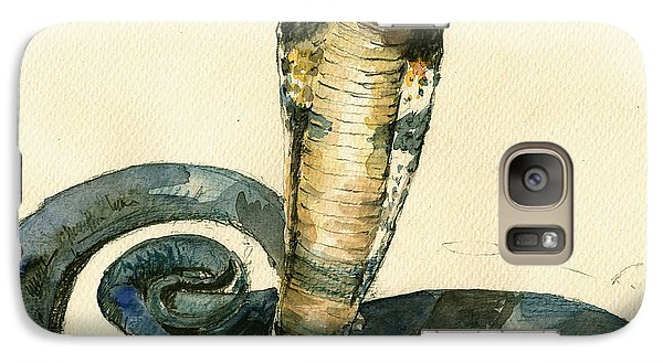 Cobra Snake Watercolor Painting Art Wall Galaxy S7 Case