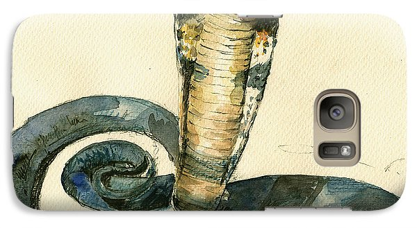 Cobra Snake Watercolor Painting Art Wall Galaxy S7 Case by Juan  Bosco