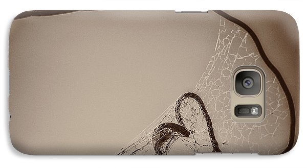 Galaxy Case featuring the photograph Cobwebs On My Heart by Mary Hone