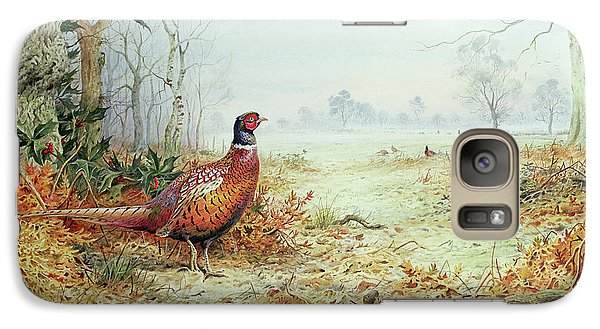 Cock Pheasant  Galaxy S7 Case by Carl Donner