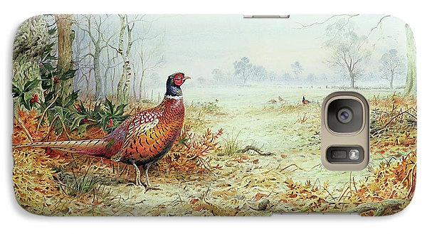 Cock Pheasant  Galaxy Case by Carl Donner