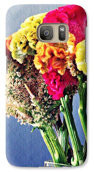 Galaxy Case featuring the photograph Cockscomb Bouquet 2 by Sarah Loft