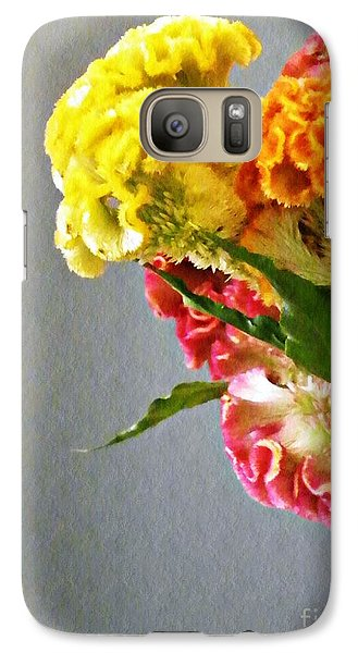 Galaxy Case featuring the photograph Cockscomb Bouquet 4 by Sarah Loft