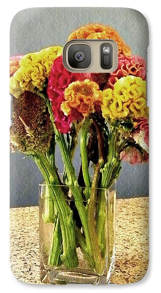 Galaxy Case featuring the photograph Cockscomb Bouquet by Sarah Loft