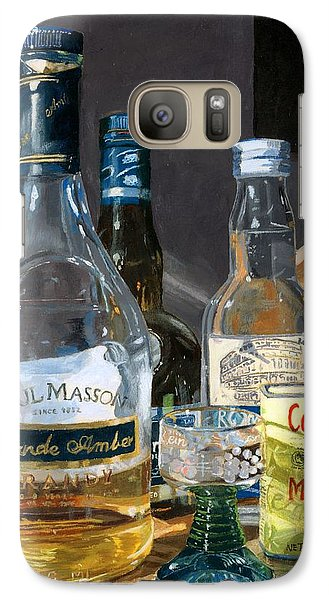 Galaxy Case featuring the painting Cocktails And Mustard by Lynne Reichhart
