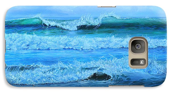 Galaxy Case featuring the painting Cocoa Beach Surf by AnnaJo Vahle