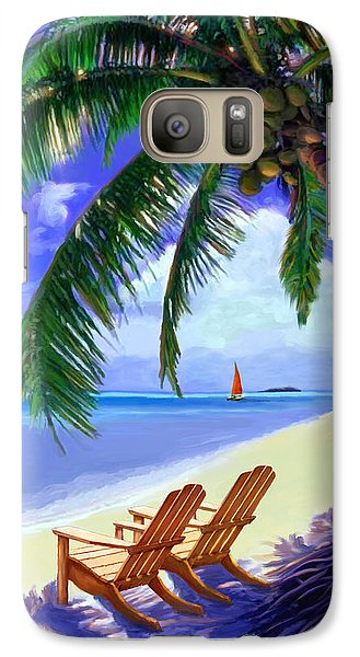 Galaxy Case featuring the painting Coconut Palm by David  Van Hulst