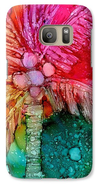 Galaxy Case featuring the painting Coconut Palm Tree by Marionette Taboniar