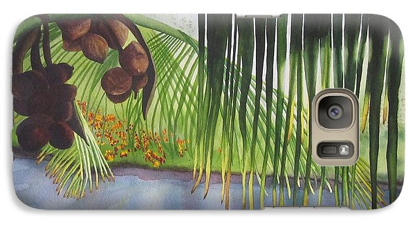Galaxy Case featuring the painting Coconut Tree by Teresa Beyer