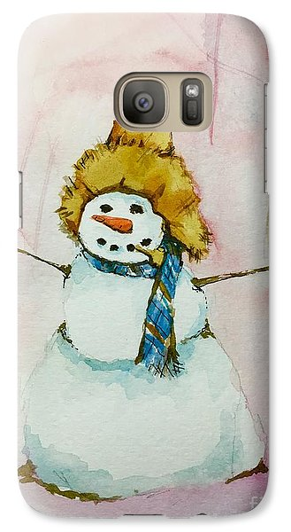 Galaxy Case featuring the painting Cody's First Frosty by Lynn Babineau
