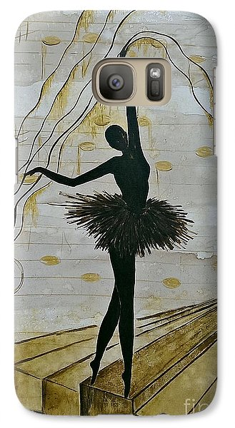 Galaxy Case featuring the painting Coffee Ballerina by AmaS Art