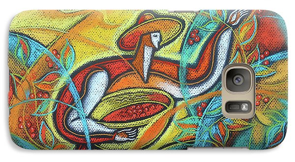 Galaxy Case featuring the painting Coffee Bean Harvest by Leon Zernitsky