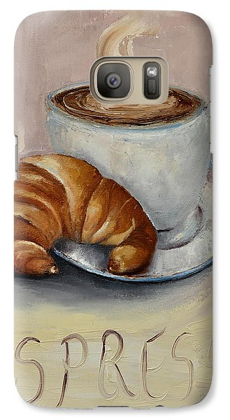 Galaxy Case featuring the painting Coffee Break by Lindsay Frost