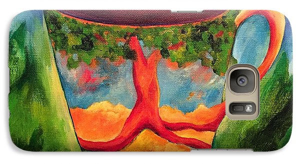 Galaxy Case featuring the painting Coffee In The Park by Elizabeth Fontaine-Barr