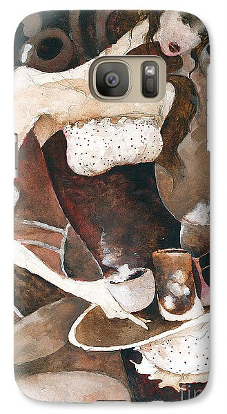 Galaxy Case featuring the painting Coffee Shop by Maya Manolova