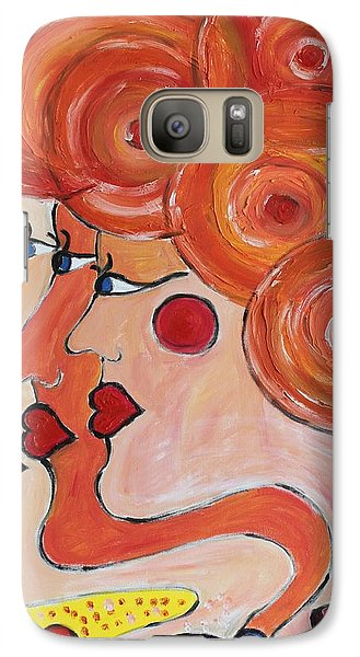 Galaxy Case featuring the painting Coffee Morning by Sladjana Lazarevic
