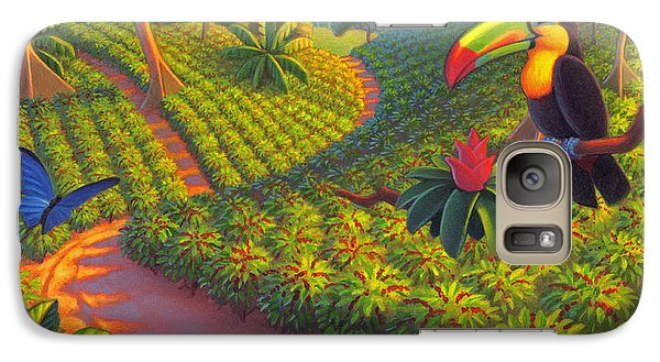 Coffee Plantation Galaxy Case by Robin Moline